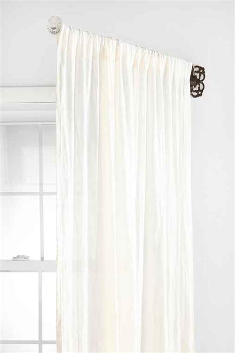 swinging curtain rods for doors glass knob ornate swing curtain rod urban outfitters