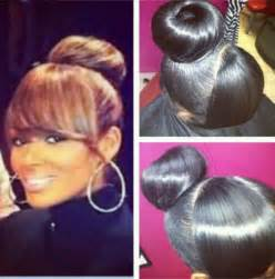images of black braided bunstyle with bangs in back hairstyle pinterest the world s catalog of ideas
