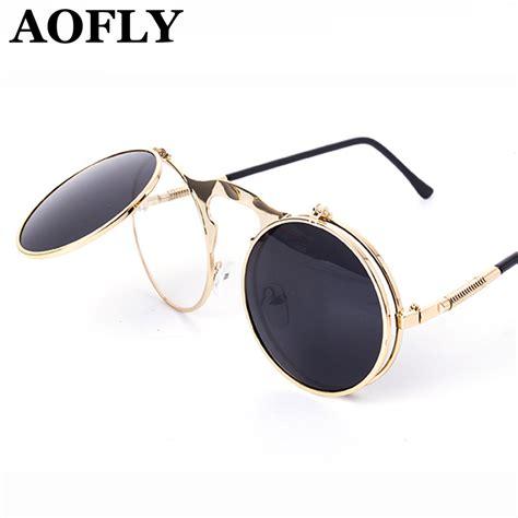 vintage glasses vintage steampunk sunglasses round designer steam punk
