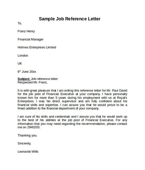 8 reference page for resume template letter of apeal