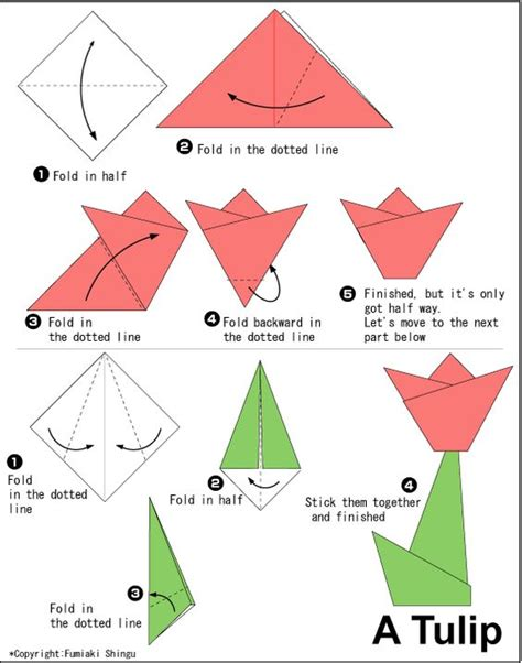 How To Make A Paper Tulip - tulip origami origami origami and tulip