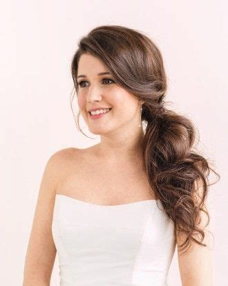 bridal hairstyles side ponytail pretty pony tails for bride s wedding day side ponytails