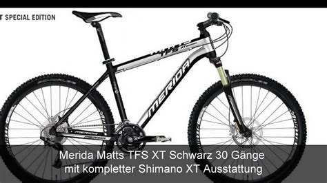 merida matts xt mountainbike merida matts tfs xt shimano xt 30 g 228 nge
