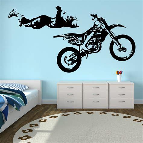 motocross wall stickers motocross stunt motorbike mx x vinyl wall sticker decal ebay