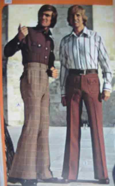 Setelan Hippy 1970 s fashion back 2 retro