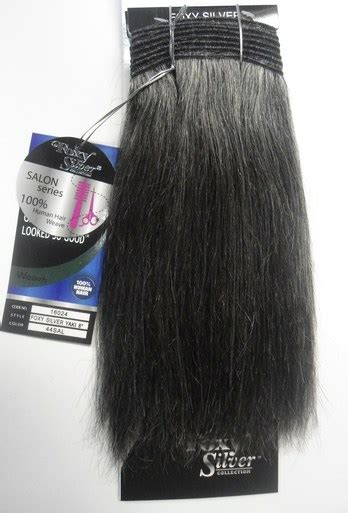 secret extensions in salt and pepper color 8 quot salt n pepper human hair straight weave track grey