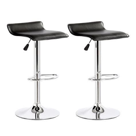 Modern Swivel Bar Stools by 2 Modern Bar Stools Pu Leather Adjustable Swivel Hydraulic Pair Chairs Counter Ebay