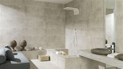 Bathroom Ceramic Tile Design Ideas by New Cement Reliefs And Textures Complete The Sturdiness Of