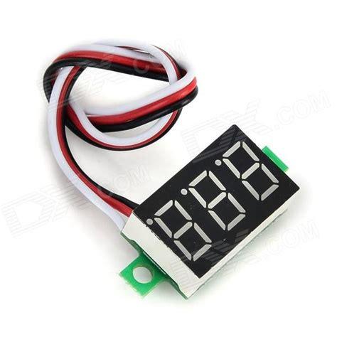 Pcb Mount Voltmeter 3 Digit 3 Wire 0 30v 0 36in 0 36 Blue dsn dvm 368l 3 3 digit 0 36 quot led digital dc voltmeter for
