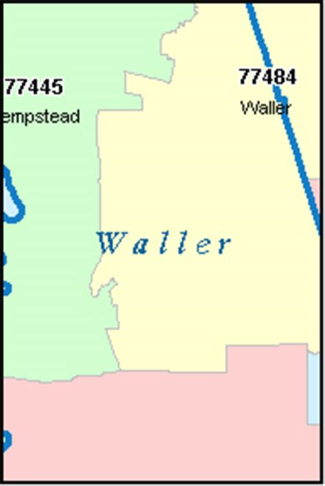 waller county texas map waller county texas digital zip code map