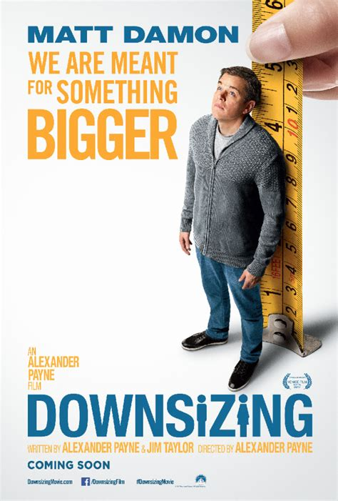 downsizing film downsizing thinks big for its new poster movie pinas