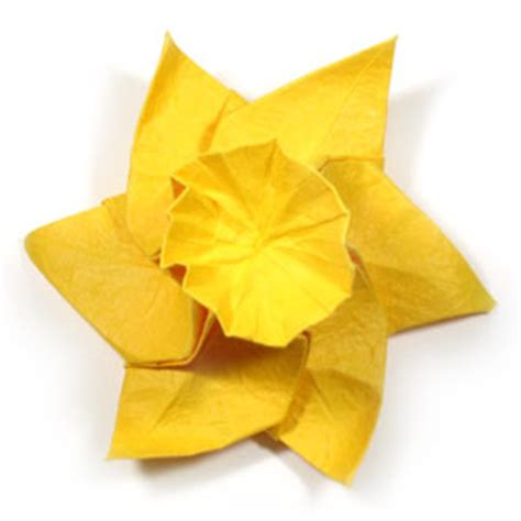 Origami Daffodil - how to make an origami daffodil flower page 23