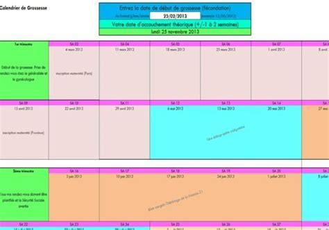 Calendrier Grossesse Semaine T 233 L 233 Charger Calendrier De Grossesse Excel Pour Windows