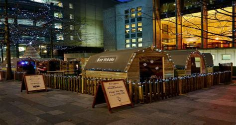 bar hutte manchester bar h 252 tte pop up at spinningfields manchester designmynight