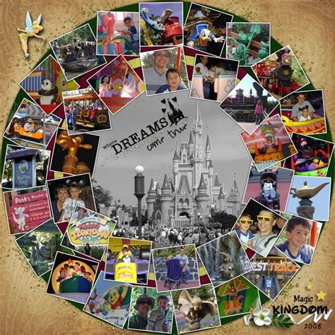 scrapbook layout ideas for lots of pictures magic kingdom 2008 by roxana not only is this a cool