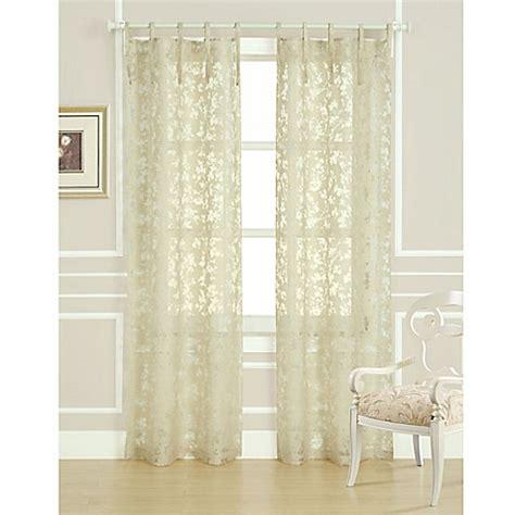 laura ashley curtain panels buy laura ashley 174 rothbury 84 inch burnout window curtain