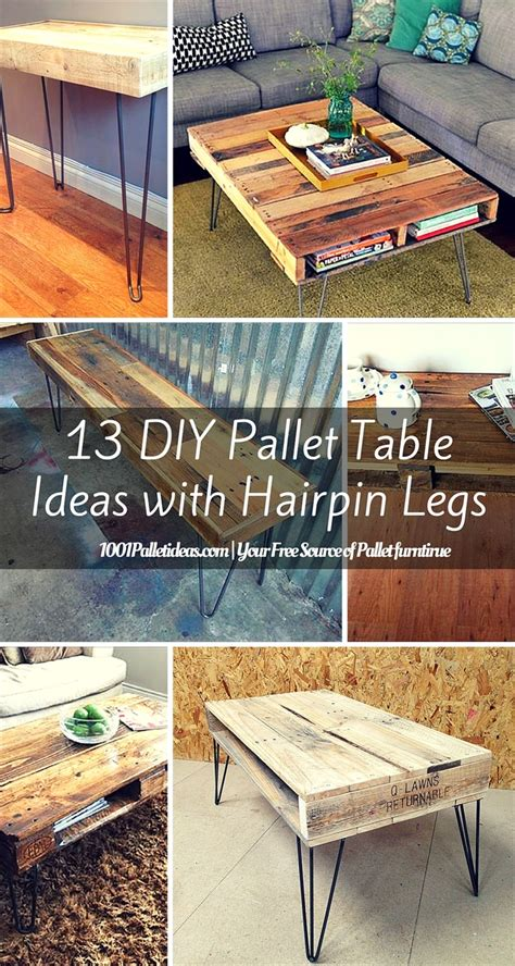 diy table legs ideas 13 diy pallet tables with hairpin legs 1001 pallet ideas