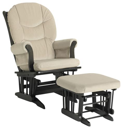 chair ottoman combo sleigh glider chair and ottoman combo beige