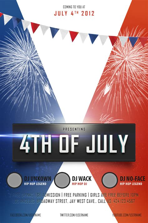 10 Free 4th Of July Flyer Templates Demplates Closure Flyer Template
