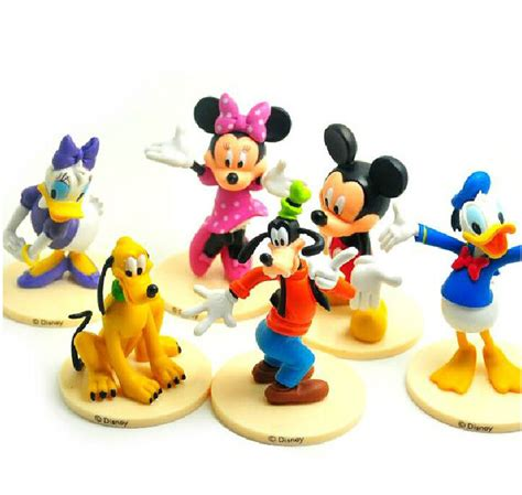 pcs mickey mouse clubhouse figure set mickey minnie goofy pvc toy cake topper ebay