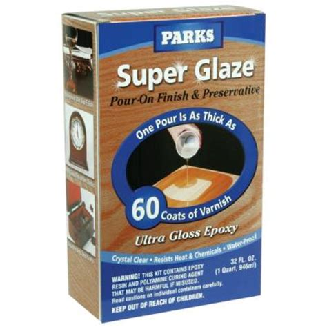bar top finish home depot rust oleum parks 1 qt gloss super glaze finish and
