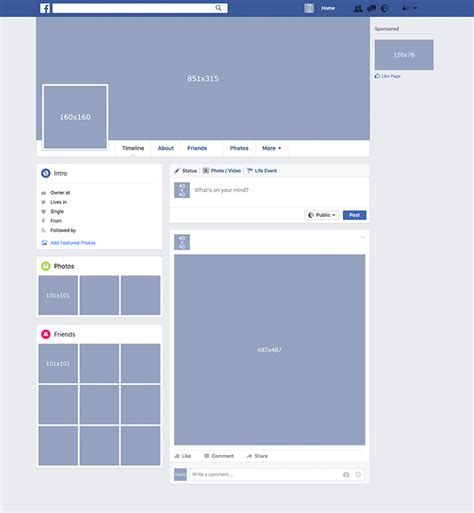 facebook layout template vector facebook layout template pictures to pin on pinterest