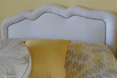 fabric headboard with nailhead trim how to make an upholstered headboard white diy