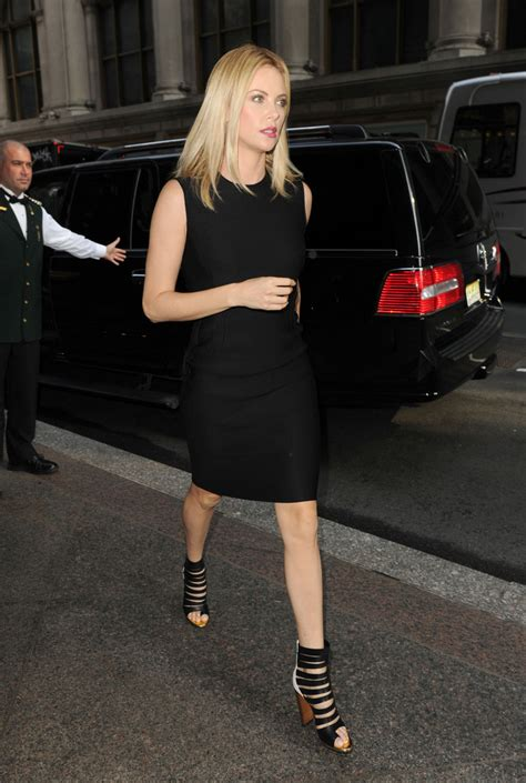 Charlize Theron Got Rid Of The Black Do by Charlize Theron Strappy Sandals Charlize Theron Shoes