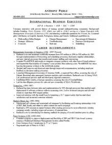 Resume Templates Business by Business Resume Template