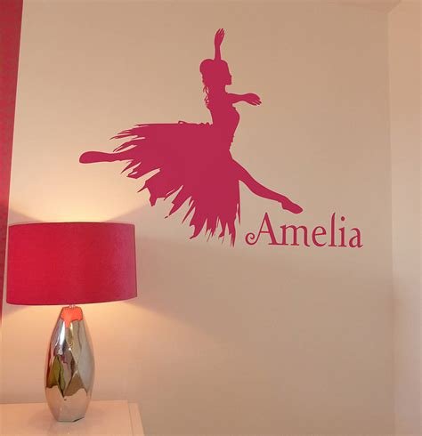 ballet wall stickers personalised ballerina wall sticker by nutmeg notonthehighstreet
