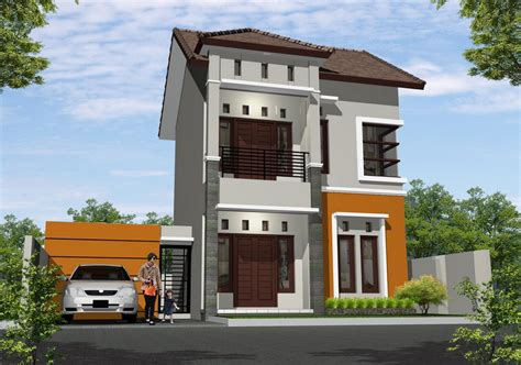 desain depan rumah pintu dua pilihan desain terbaik rumah minimalis type 36 di