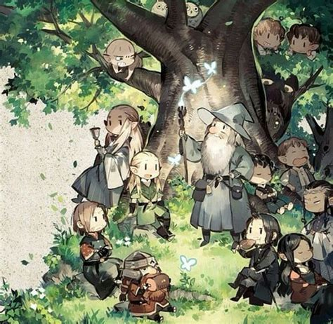 Lord Fanart lord of the rings chibi fanart chibi lotr hobbit and