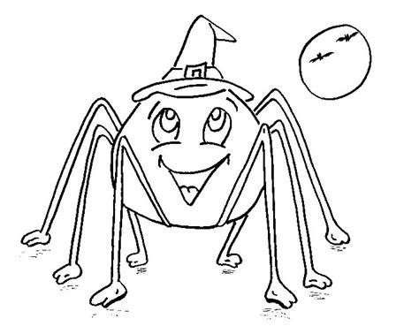 imagenes calabazas halloween para imprimir dibujo colorear spider smile dibujo de halloween para