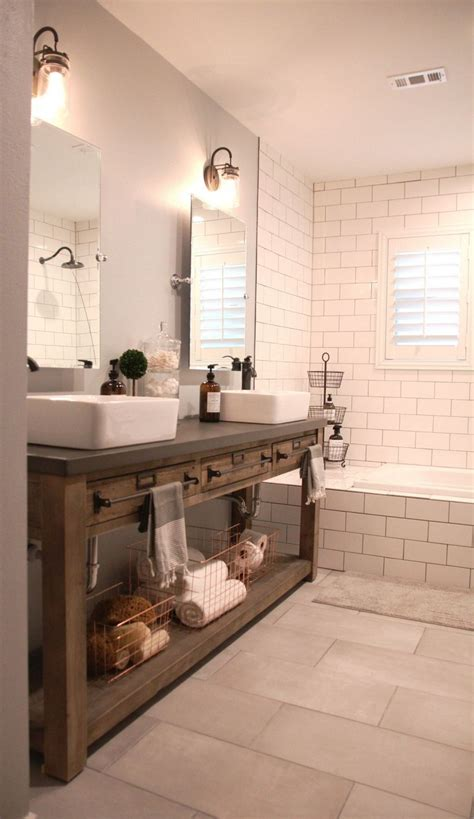 marvelous modern farmhouse style bathroom remodel