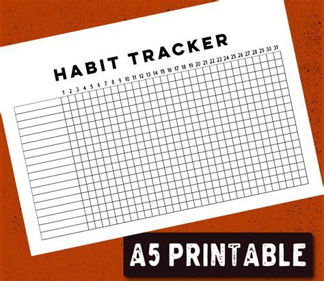 Printable Habit Tracker Bullet Journal | printable bullet journal habit tracker a5