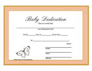 dedication template baby dedication certificate 6 free documents
