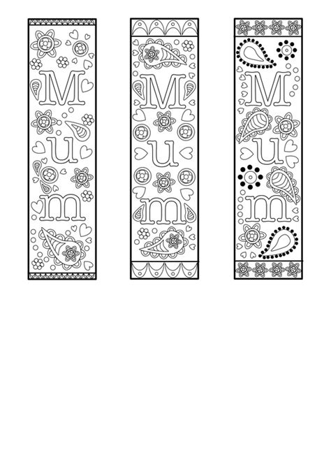 Flowers For Mother S Day Free Printable Bookmark Template For Mothers Day Or Mum