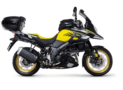 Suzuki V Strom 1000 Accessories by Suzuki V Strom 1000 Xt India Launch Accessories Side View