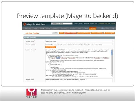 Customizing Magento Email Templates Magento Email Templates