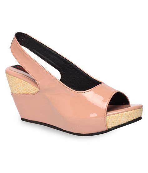 bliss light pink wedge heel sandals price in india buy
