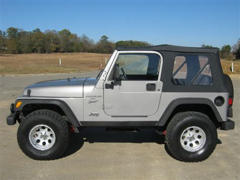 2000 Jeep Wrangler Top Silver 2000 Jeep Wrangler 4 Ol 4x4 Soft Top Photo Picture