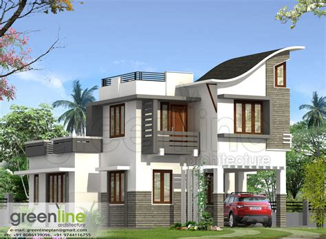 new home design 3d kerala house plan kerala house elevation at 2991 sqft flat roof house ideas for the house