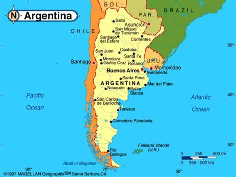 south america map argentina argentina