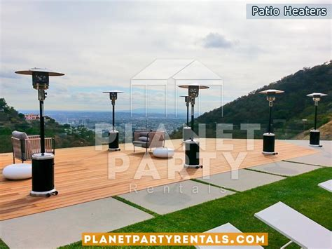 Patio Heaters For Rent Heater Includes Propane Gas Patio Heaters Rentals