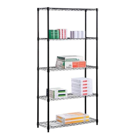 Free Standing Shelf Units by Honey Can Do 5 Tier Shelf Unit Shf 01912 Free Standing