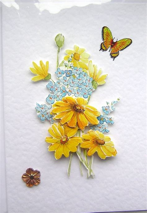 How To Do Decoupage Cards - summer blooms crafted 3d decoupage card blank for