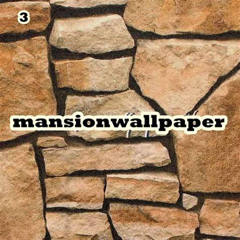 Wallpaper Dinding Batu Alam 3d jual wallpaper dinding batu alam 3d roll besar mansion