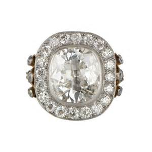 Cushion Cut Diamon 4 04ct Cushion Cut Diamond Engagement Ring Estate
