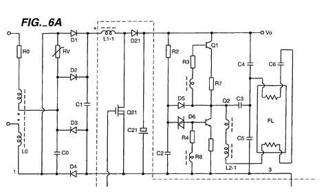 circuit diagram of electronic choke fluorescent l electronic ballast circuit diagram
