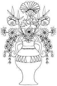 coloriage d un vase de fleurs t 234 te 224 modeler